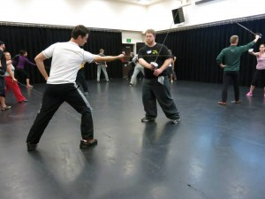 Single Sword Stage Combat at the Tourist Trap 2014