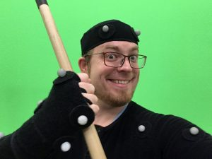 Whit Mocap with Quarterstaff